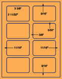 "US1920-3 3/8'' x 2 11/32''# 5395 on 8.5""x11""label sheet."
