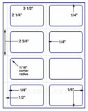 "US1940-3.5 ''x2.25'' Avery Name Badge-8.5""x11"" label sheet."