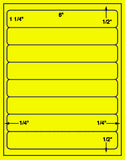 "US1970-8''x1 1/4''- 8 up on a 8 1/2"" x 11"" label sheet."