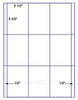 "US2001 - 2 1/2'' x 3 2/3'' - 9 up  on a 8 1/2"" x 11"" label sheet"