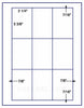 "US2002 - 3 3/8'' x 2 1/4'' - 9 up label on a 8 1/2"" x 11"" inkjet or laser sheet. - uslabel.net - The Label Resource Center"