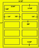 "US2024-3 3/4''x1 5/8''-10 up on a 8 1/2"" x 11"" Label sheet."