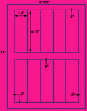 "US2085-4.75""x1.5""-10 up on a 8 1/2"" x 11"" label sheet."