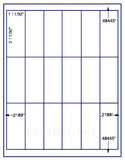"US3046-3 11/32x1 11/32-18 up on a 8 1/2"" x 11"" label sheet."