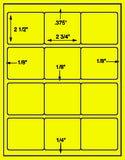 "US3064-2 3/4''x2 1/2''-12 up on a 8 1/2"" x 11"" label sheet."