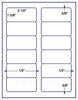 "US3100 - 3 1/2'' x 1 5/8'' -12 up on a 8 1/2"" x 11"" label sheet"