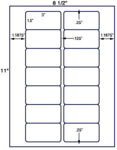 "US3161-3''x1.5''-14 up on a 8 1/2""x11"" label sheet."