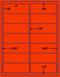 "US3200-4''x1 1/2''-14 up # 5159 on a 8.5""x11"" label sheet."