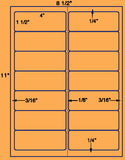 "US3220-4''x1 1/2''-14 up on a 8 1/2""x11"" label sheet."