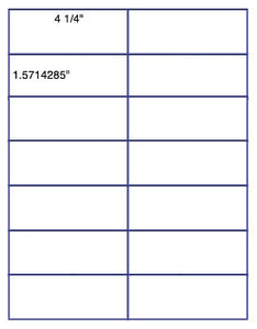 "US3241-4 1/4''x1.571''-14 up on a 8 1/2""x11"" label sheet."