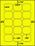 "US3299-2.0910''x1.6276''-15 up on 8.5""x 11""label sheet."