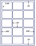 "US3300-2.688''x2""-15 up on a 8 1/2""x11"" label sheet."