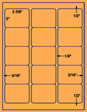 "US3321-2 5/8''x2''-15up w/vert on a 8 1/2""x11"" label sheet."