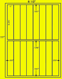 "US3377-1''x5.24''-16 up on a 8 1/2""x11"" label sheet."