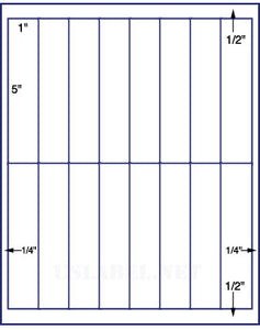 "US3379-5'' x 1''-16 up on a 8 1/2""x11"" label sheet."