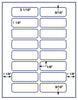 "US3380 - 3 1/16'' x 1 1/8'' - 16 up label on a 8 1/2"" x 11"" inkjet or laser label sheet."