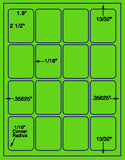 "US3383-1.9''x2.5''-16 up on a 8 1/2"" x 11"" label sheet."