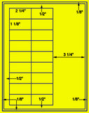"US3402-2 1/4''x1 1/8''-18 up on a 8 1/2""x11"" label sheet."