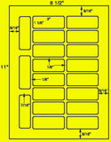"US3408-3""x1.1/8''-19 up on a 8.5""x11"" label sheet."