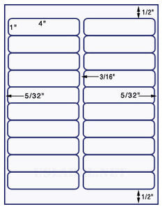 "US3440-4"" x 1"" #5161-20 up on a 8.5""x11"" label sheet."