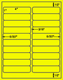 "US3440-1"" x 4"" #5161-20 up on a 8.5""x11"" label sheet."