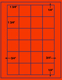 "US3523-1 3/4'' Square 24 up on a 8 1/2"" x 11"" label sheet."