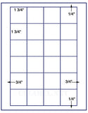 "US3522-1.22''x1.0625''-24 up on a 8 1/2""x11"" label sheet."
