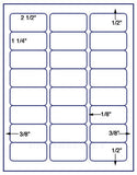 "US3524-2 1/2''x1 1/4''-24 up on a 8 1/2"" x 11"" label sheet."