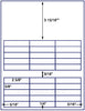 "US3620 - 2 5/8'' x 5/8'' - 30 up label on a 8 1/2"" x 11"" inkjet or laser label sheet."