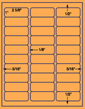 "US3642-1''x25/8''-30 up #5160 on 8.5""x11""label sheet."
