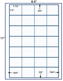 "US3670-1.75''x1.5''-28 up on a 8 1/2"" x 11"" label sheet."
