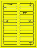 "US3680-3 7/16''x2/3'' 30 up on a 8 1/2"" x 11"" label sheet."