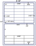 "US3696-2.625''x.75''-30 up on a 8 1/2""x11"" label sheet."