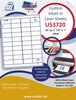 "US3720 - 40 up 2 1/8'' x 1'' label on a 8 1/2"" x 11"" inkjet or label sheet."