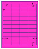 "US3739 - 2'' x 1'' - 40 up on a 8 1/2"" x 11"" label sheet."