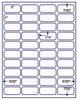 "US3740 - 40 up 2'' x 1'' with vert. & horz. Gutters label on a 8 1/2"" x 11"" inkjet or label sheet."