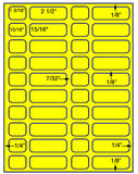 "US3741-13/16''x15/16 -40 up on a 8.5""x11"" label sheet."
