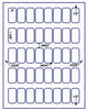 "US3742 - 40 up .9'' x 1 5/8'' label on a 8 1/2"" x 11"" inkjet or label sheet."