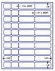 "US3744 - 40 UP 1.3'' and 2.7'' x .9625'' label on a 8 1/2"" x 11"" inkjet or laser sheet."
