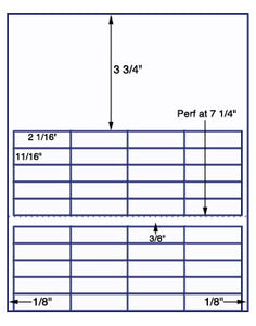 "US3746-2 1/16''x11/16''-40 up on a 8 1/2""x11"" label sheet."