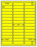 "US3760-2 5/8''x3/4''-42 up on a 8 1/2"" x 11"" label sheet."