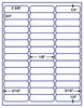 "US3760 - 42 up - 2 5/8'' x 3/4'' label on a 8 1/2"" x 11"" inkjet or laser label sheet."