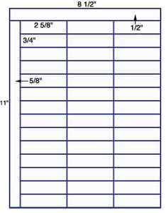 "US3780-2 5/8''x 3/4''-42 up on a 8 1/2""x11"" label sheet."