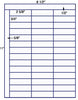 "US3780 42 up 2 5/8'' x 3/4''label with Sq Cor. on a 8 1/2"" x 11"" label sheet."