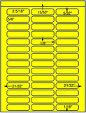 "US3800-2 5/16''x5/8''- 42 up on a 8 1/2"" x 11"" label sheet."