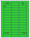 "US3801-2 3/8''x3/4''-42 up on a 8 1/2"" x 11"" label sheet."