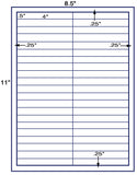 "US3802-4''x.5''- 42 up on a 8 1/2"" x 11"" label sheet."
