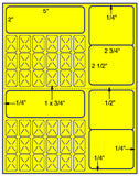"US3822-2''x5'' - 42 up on a 8 1/2""x11"" label sheet."