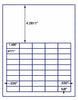 "US3831 - 45 up - 1.486'' x .6771'' label on a 8 1/2"" x 11"" inkjet or laser label sheet."