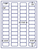 "US3840-1 5/8''x7/8''-48 up on a 8 1/2"" x 11"" label sheet."